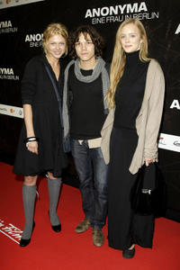 Isabell Gerschke, Sebastian Urzendowsky and Wanda Perdelwitz at the Germany premiere of
