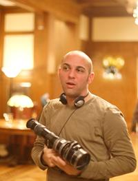 Director Marcos Siega on the set of
