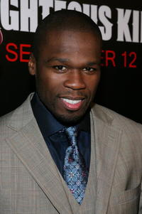 Rapper 50 Cent at the N.Y. premiere of