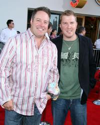 Gary Valentine and Nick Swardson at the premiere of