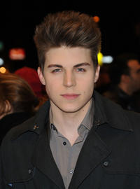 Nolan Funk at the Broadway opening night of