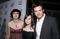 Writer Diablo Cody, actors Ellen Page and Jason Bateman at the screening of
