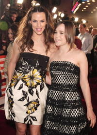 Actors Jennifer Garner and Ellen Page at the L.A. premiere of