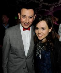 Paul Reubens and Ellen Page at the opening night of