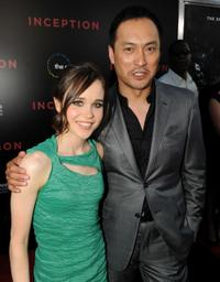 Ellen Page and Ken Watanabe at the premiere of