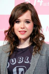 Ellen Page at the press conference for