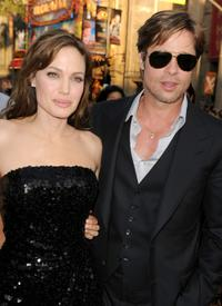 Angelina Jolie and Brad Pitt at the California premiere of