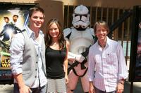 Matt Lanter, Catherine Taber and James Arnold Taylor at the premiere of