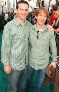 Mikey Kelley and James Arnold Taylor at the premiere of