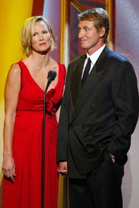 Janet Jones and Wayne Gretzky at the ESPN's 10th Annual Espy Awards.