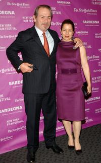 Tommy Lee Jones and his wife Dwan Jones at the New York Film Festival screening of