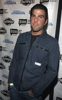 Zachary Quinto at the Project Runway celebrates season three at Outfest party.
