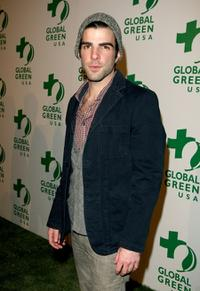 Zachary Quinto at the Global Green USA's 6th Annual pre-Oscar party.