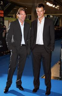 Director Michael Bay and Josh Duhamel at the Japan premiere of