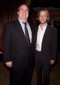 Kevin Farley and David Spade at the In Style/Warner Bros. post-Golden Globes party.