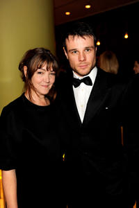 Anwen Rees-Myers and Rupert Evans at the BFI pre-opening Gala Dinner hosted by Greg Dyke during the 54th BFI London Film Festival in England.