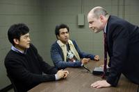 John Cho as Harold, Kal Penn as Kumar and Rob Corddry as Dr. Beecher in