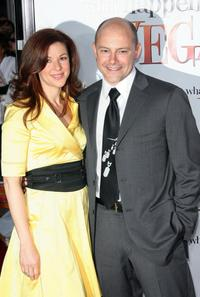 Sandra and Rob Corddry at the premiere of