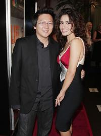 Masi Oka and Sarah Shahi at the premiere screening of