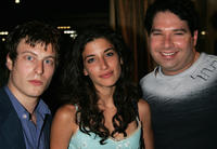Noah Segan, Tania Raymonde and Joel Michaely at the after party of 4th Annual IndieProducer Awards Gala in California.