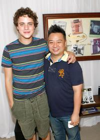Douglas Smith and Rex Lee at the HBO Luxury Lounge during the 66th Annual Golden Globes.