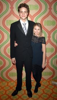Douglas Smith and Guest at the HBO's Post Golden Globe After Party.