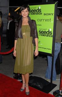 Arielle Kebbel at the Seeds of Tolerance award ceremony.