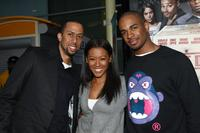 Affion Crockett, Denyce Lawton and Damon Wayans Jr. at the screening of