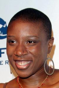 Aisha Hinds at the launch party of