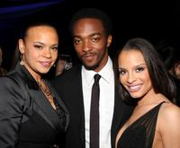 Faith Evans, Anthony Mackie and Antonique Smith at the after party of the premiere of