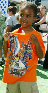Khamani Griffin at the premiere of