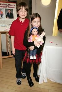 Chris O'Neil and Rhiannon Leigh Wryn at the doll signing to celebrate the premiere of