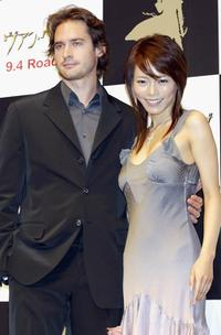 Will Kemp and Japanese actress Yumiko Shaku at the press conference to promote