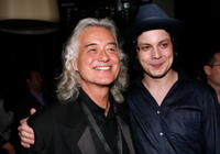 Jimmy Page and Jack White at the 2008 Toronto International Film Festival.