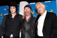 Jack White, The Edge and Jimmy Page at the 2008 Toronto International Film Festival.