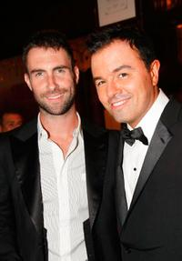 Adam Levine and Seth MacFarlane at the FX 2009 Primetime Emmy Awards.