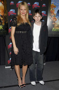 Musician Jewel and Freddie Highmore at a promotion at promotion at Planet Hollywood in N.Y. for