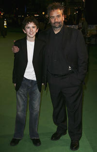 Director Luc Besson and Freddie Highmore at the UK premiere of