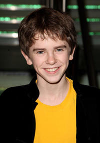 Freddie Highmore at the London premiere of