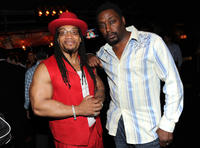 Rappers Melle Mel and Big Daddy Kane at the NY Giant Justin Tuck's Celebrity Billiards Tournament.
