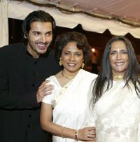 John Abraham, Seema Biswas and Deepa Mehta at the opening night gala screening of