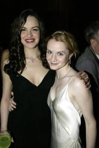 Tammy Blanchard and Kate Reinders at the opening night party of