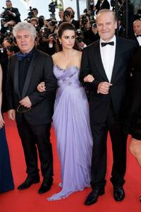Pedro Almodovar, Penelope Cruz and Lluis Homar at the premiere of