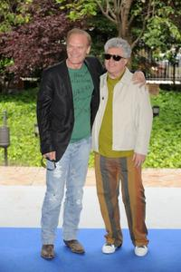 Lluis Homar and Pedro Almodovar at the photocall of