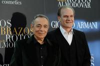 Jose Luis Gomez and Lluis Homar at the premiere of