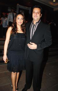 Natasha and Fardeen Khan at the Ramesh Taurani's wedding anniversary.