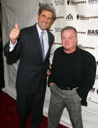 John Kerry and Jack McGee at the 6th Annual bash for New York's bravest to benefit the Leary Firefighters Foundation.