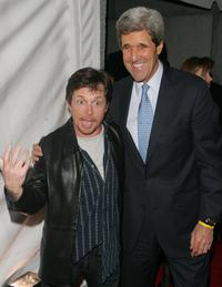Michael J. Fox and John Kerry at the 6th Annual bash for New York's bravest to benefit the Leary Firefighters Foundation.