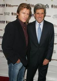 Denis Leary and John Kerry at the 6th Annual bash for New York's bravest to benefit the Leary Firefighters Foundation.