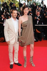 Mathieu Kassovitz and Guest at the premiere of